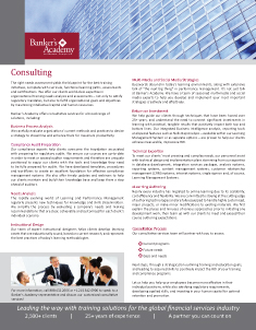 Banker's Academy Consulting Services